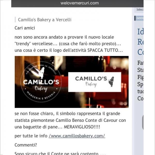 Camillo's Bakery a vercelli